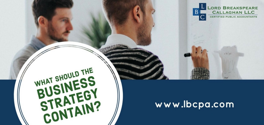 - What should the business strategy contain?