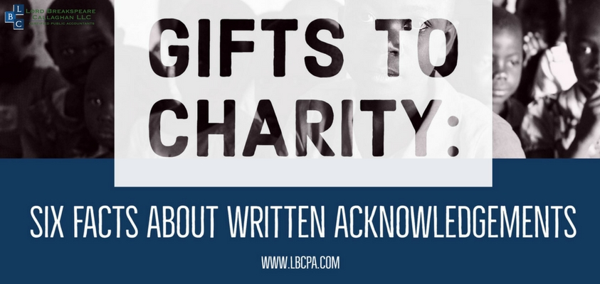 Gifts to Charity: Six Facts About Written Acknowledgements