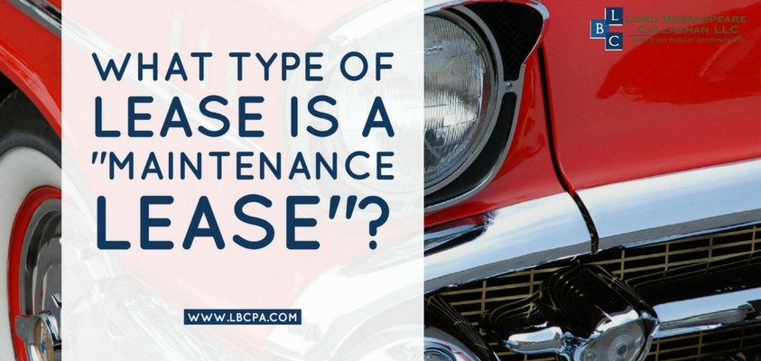 What type of lease is a maintenance lease?