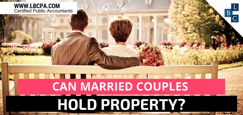 Can married couples hold property?