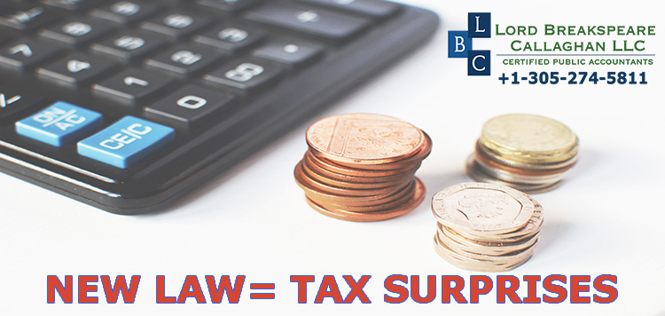 NEW LAW=TAX SURPRISES