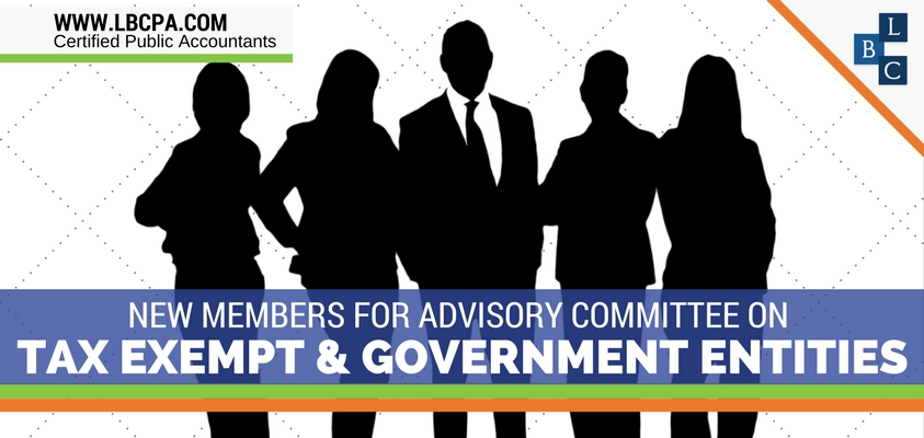 New Members for Advisory Committee on Tax Exempt and Government Entities