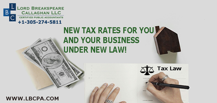 New tax rates for you and your business under new law!