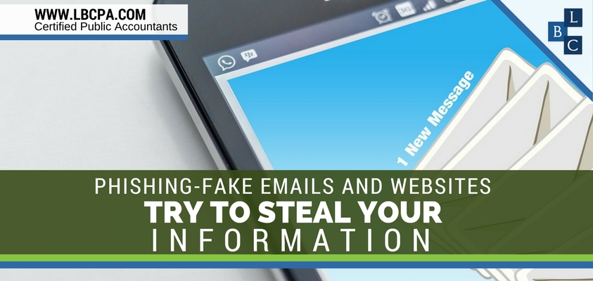 Phishing-Fake Emails and Websites try to steal your Information