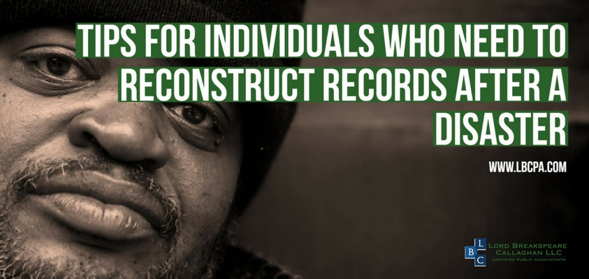 Reconstruct Records After a Disaster