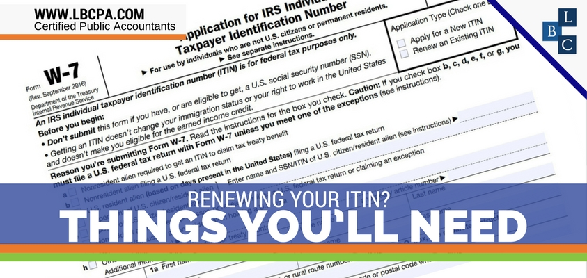 Renewing Your ITIN? Things You'll Need