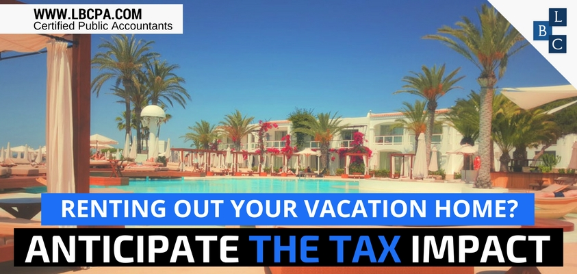 Tax Impact Renting Out Vacation Home