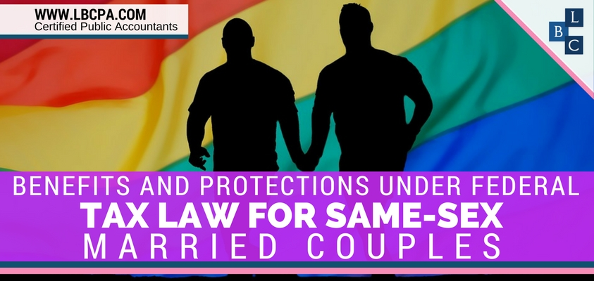 Federal Tax Law for Same-Sex Married Couples