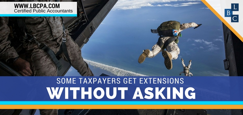 Some Taxpayers Get Extensions without Asking