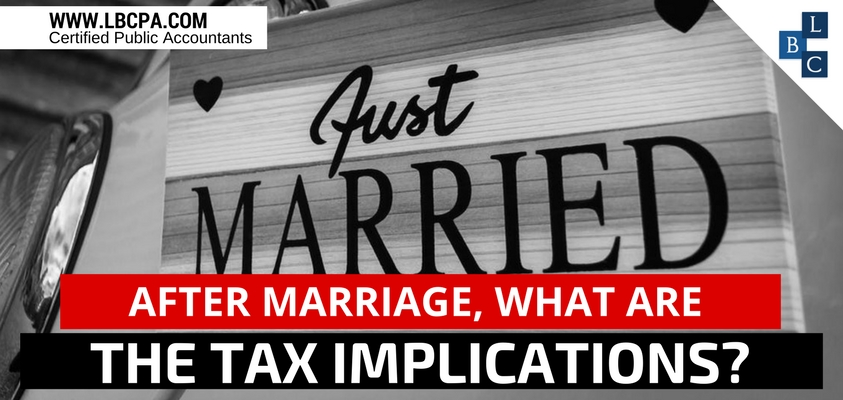 After marriage, what are the tax implications?