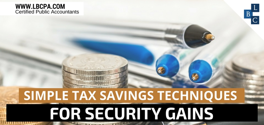 Simple Tax Savings Techniques for Security Gains