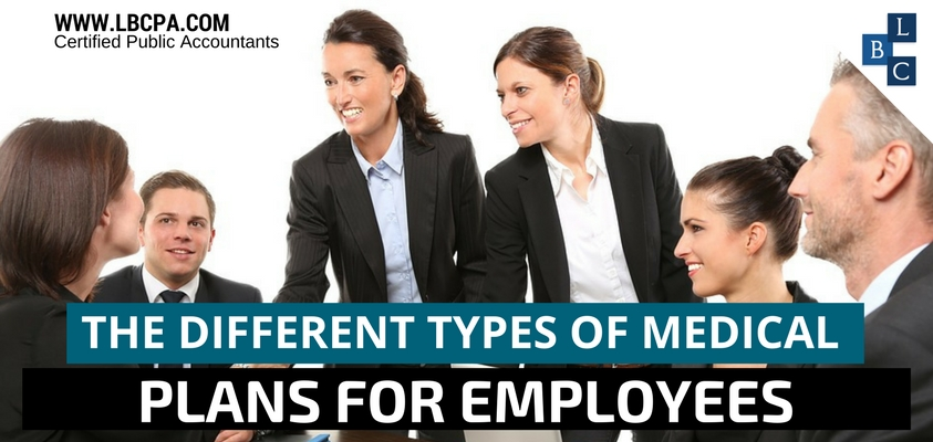 The different types of medical plans for employees