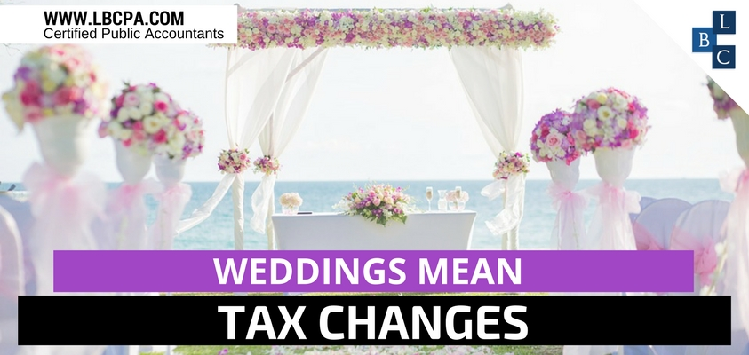 Weddings Mean Tax Changes