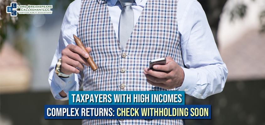 taxpayers with high incomes complex returns