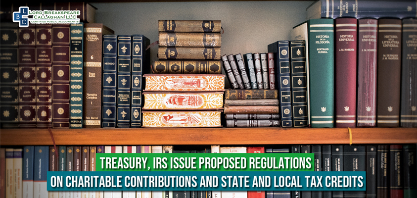 treasury irs issue proposed regulaions on charitable contributions and state and state