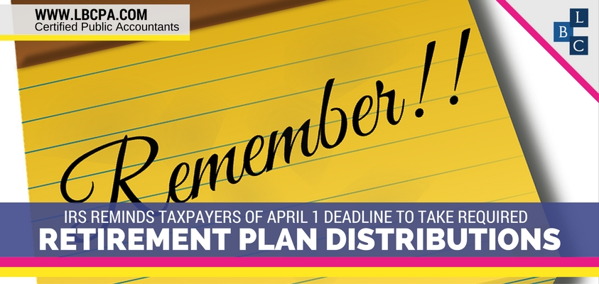 Deadline to Take Required Retirement Plan Distributions