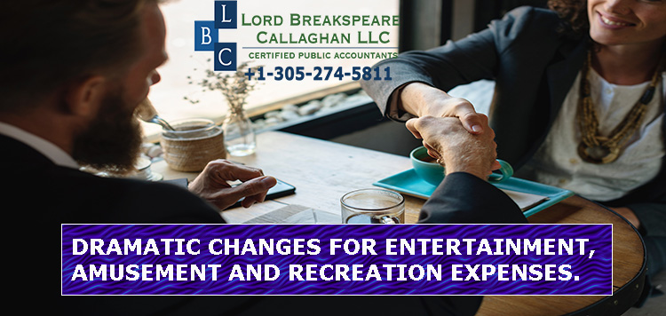 Dramatic changes for entertainment, amusement and recreation expenses.