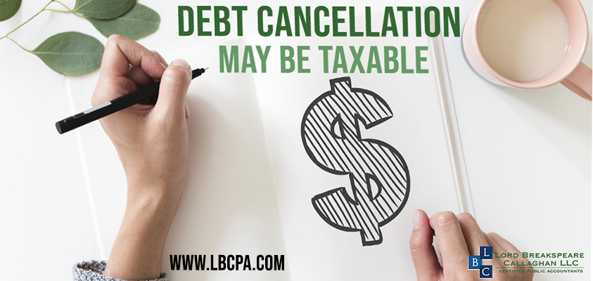 debt cancellation may be taxable