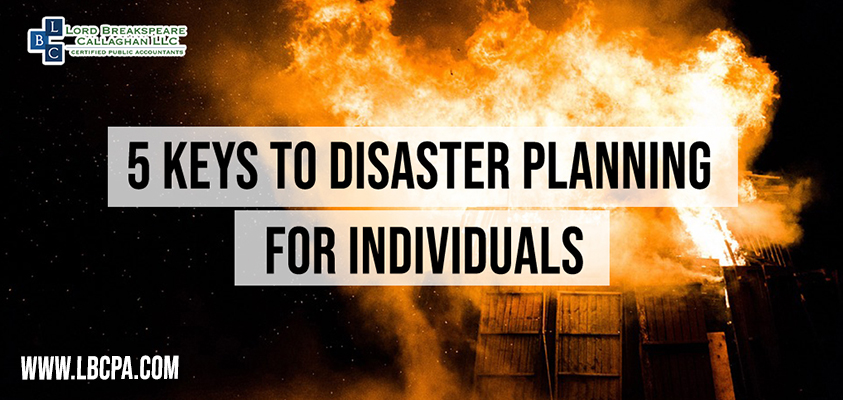 5 keys to disaster plannig for individuals-